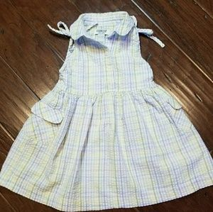 Cute seersucker gingham print dress